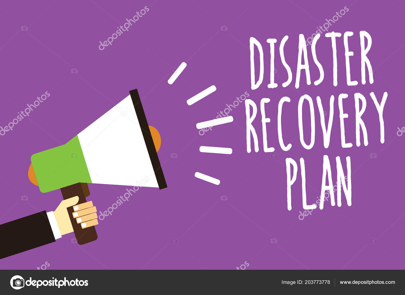 Word Writing Text Disaster Recovery Plan Business Concept