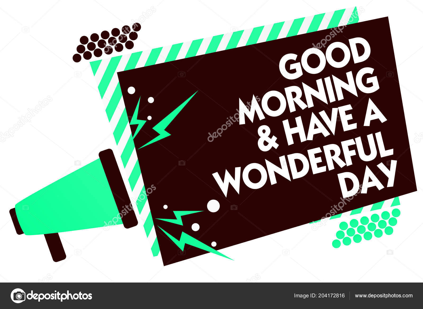 Word Writing Text Good Morningand Have Wonderful Day Business