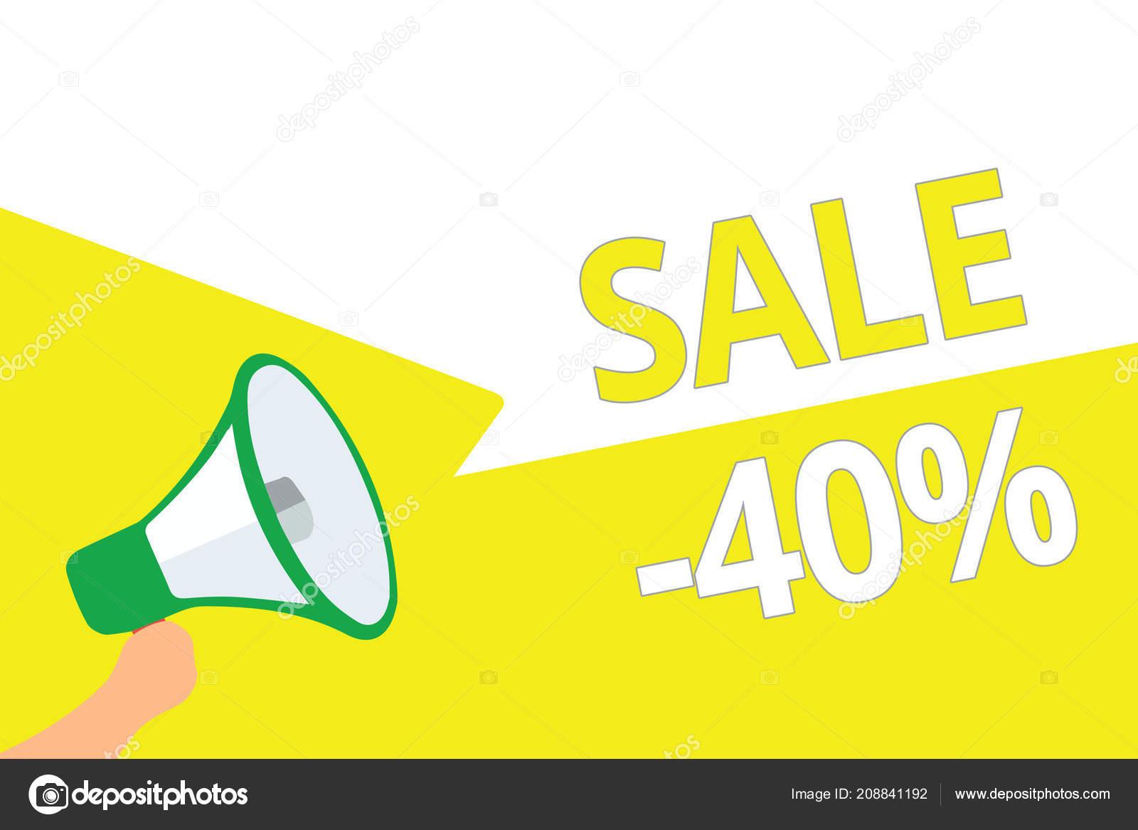 9aa81f7682 Conceitual Mão Escrevendo Mostrando Venda Foto Negócios Apresentando Preço  Promocional — Fotografia de Stock