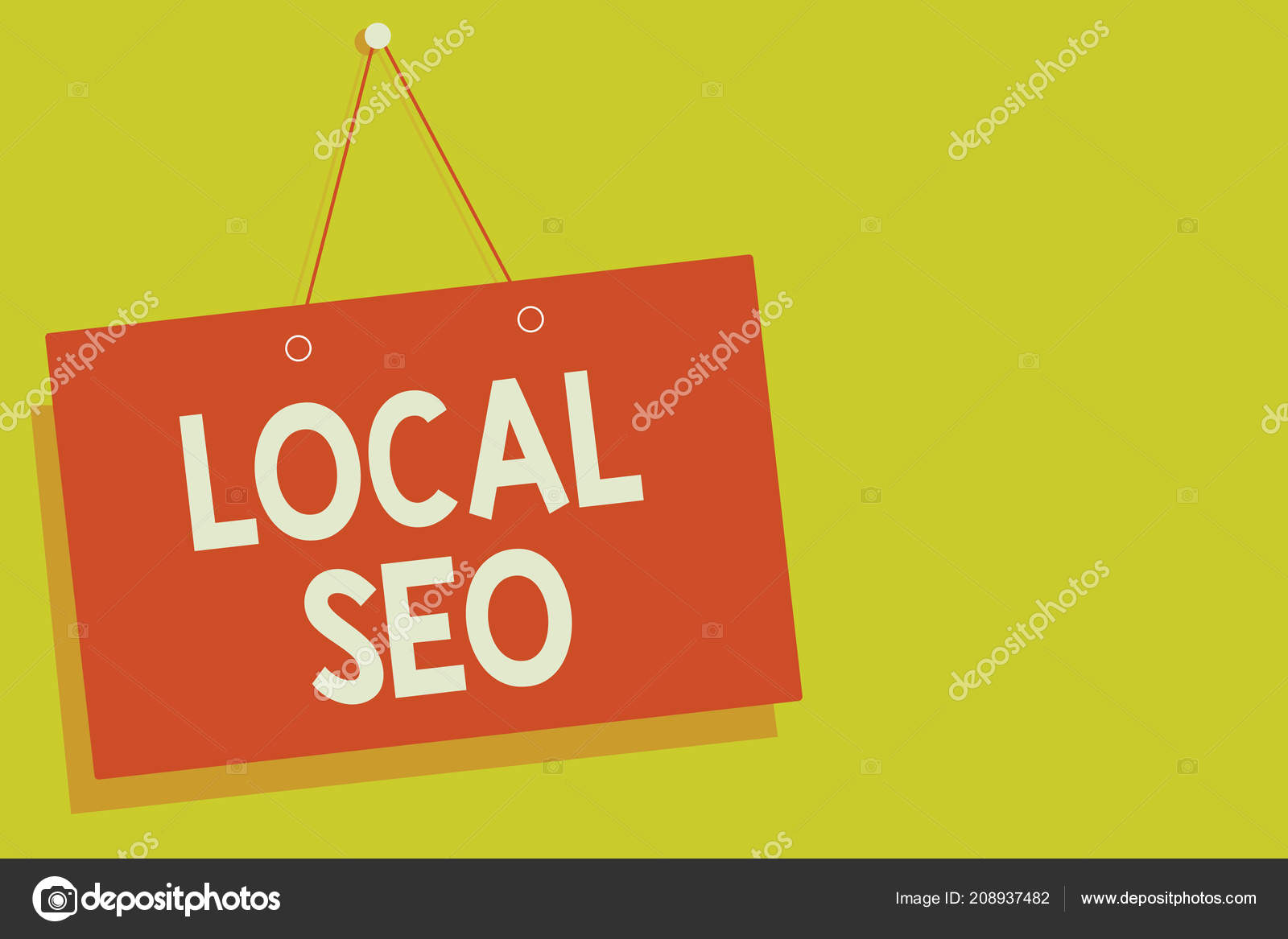 Handwriting Text Local Seo Concept Meaning Effective Way