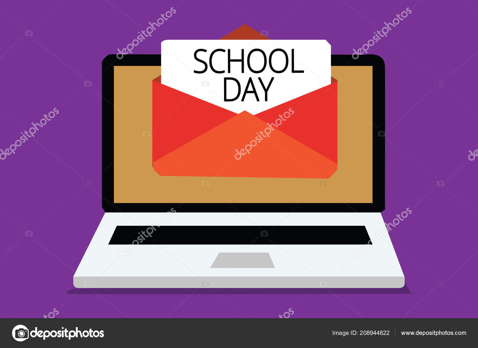 496d578675 Χειρόγραφο Κείμενο Γράφοντας Σχολικής Ημέρας Έννοια Έννοια Ξεκινά Από Επτά  — Φωτογραφία Αρχείου