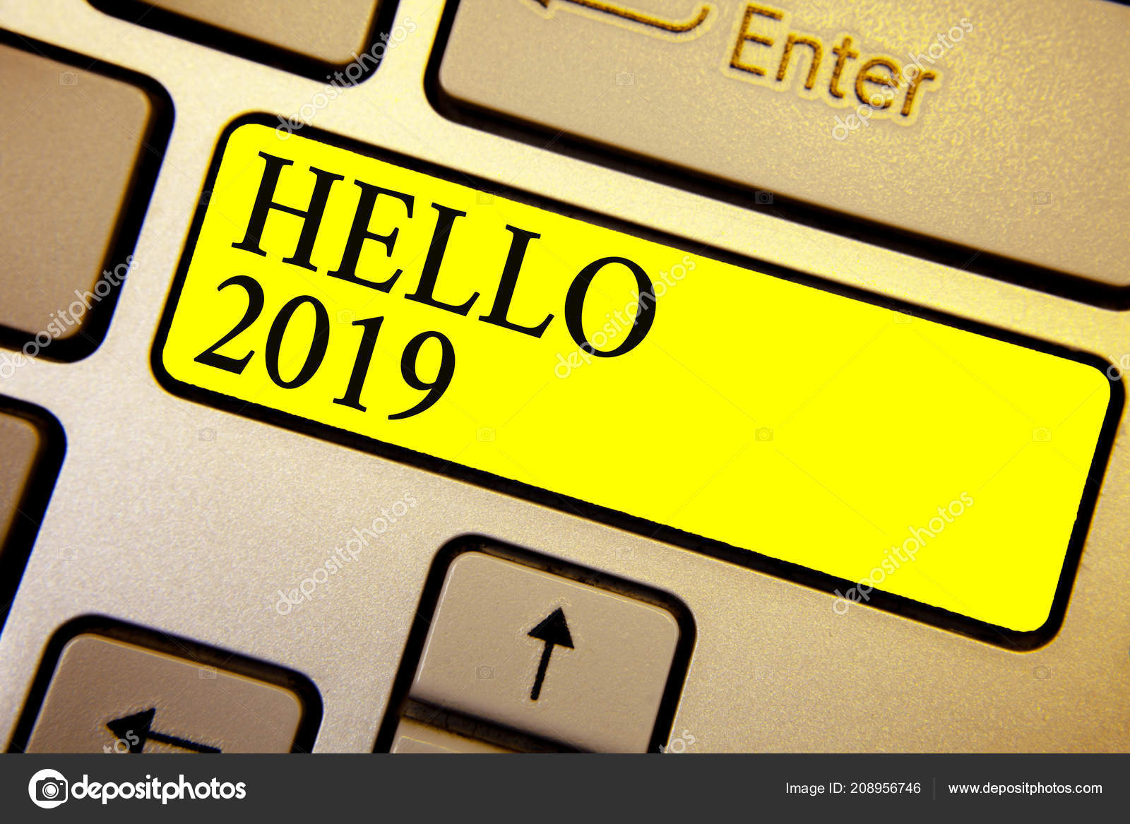 Texto Escritura Mano Hola 2019 Concepto Significado Con Esperanza