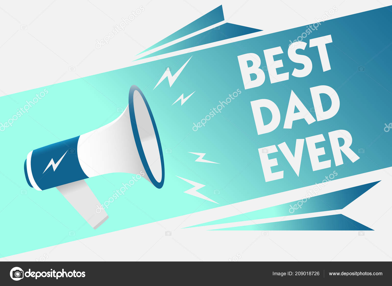 Handwriting Text Best Dad Ever Concept Meaning Appreciation
