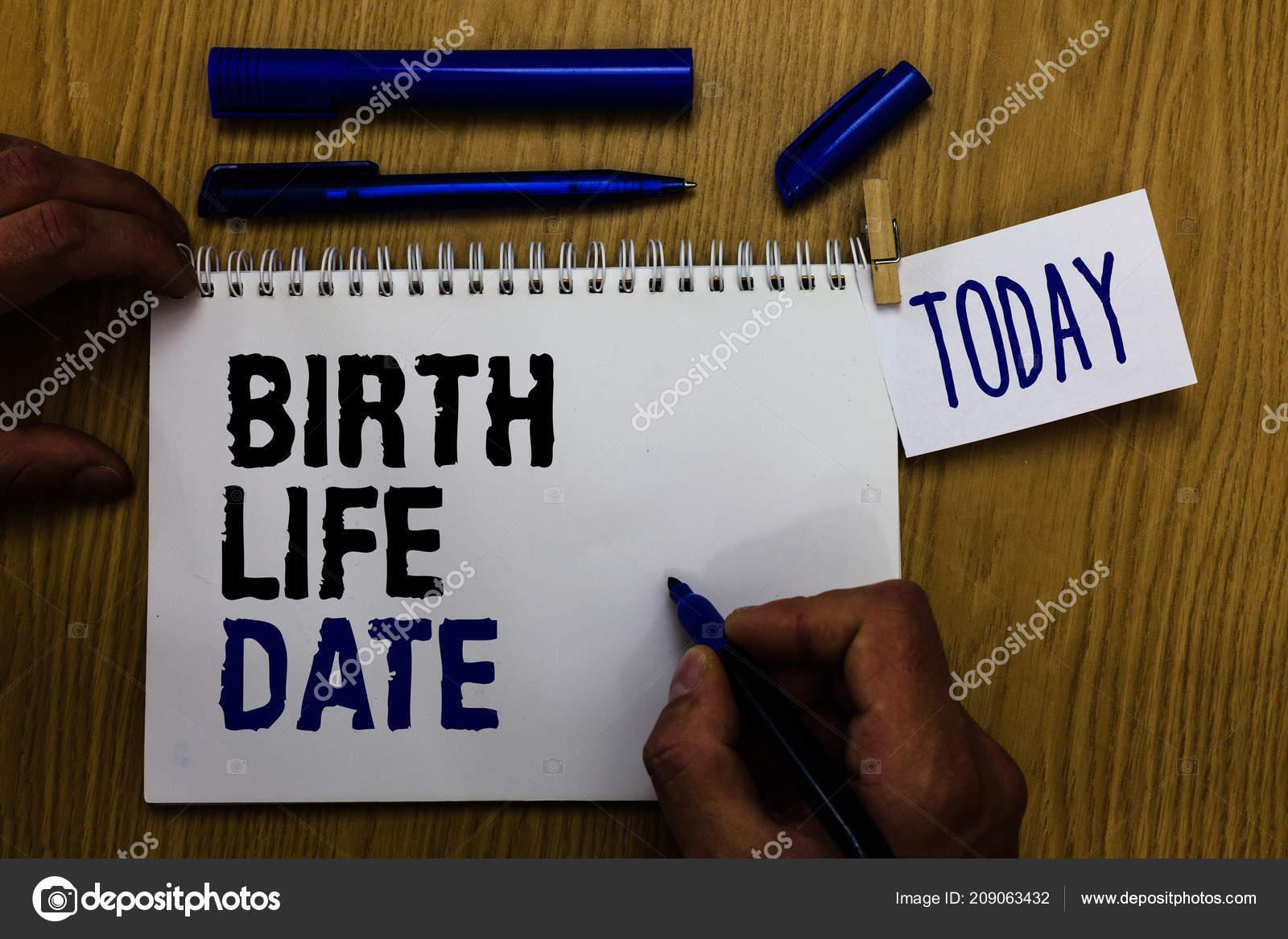 Texto Escritura Vida Fecha Nacimiento Concepto Significado Día Bebé