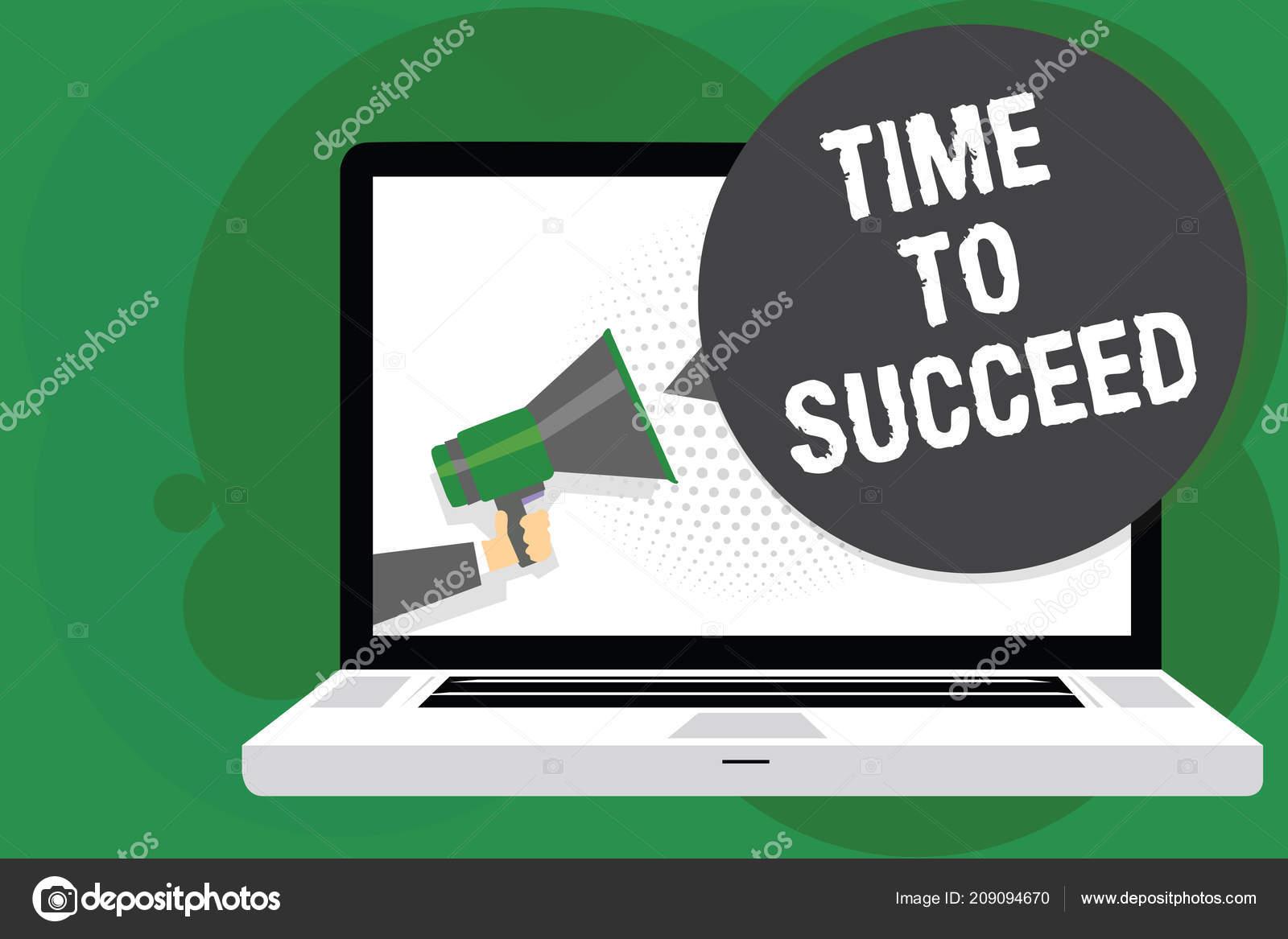 Texto Escritura Tiempo Para Tener Éxito Concepto Significado ...