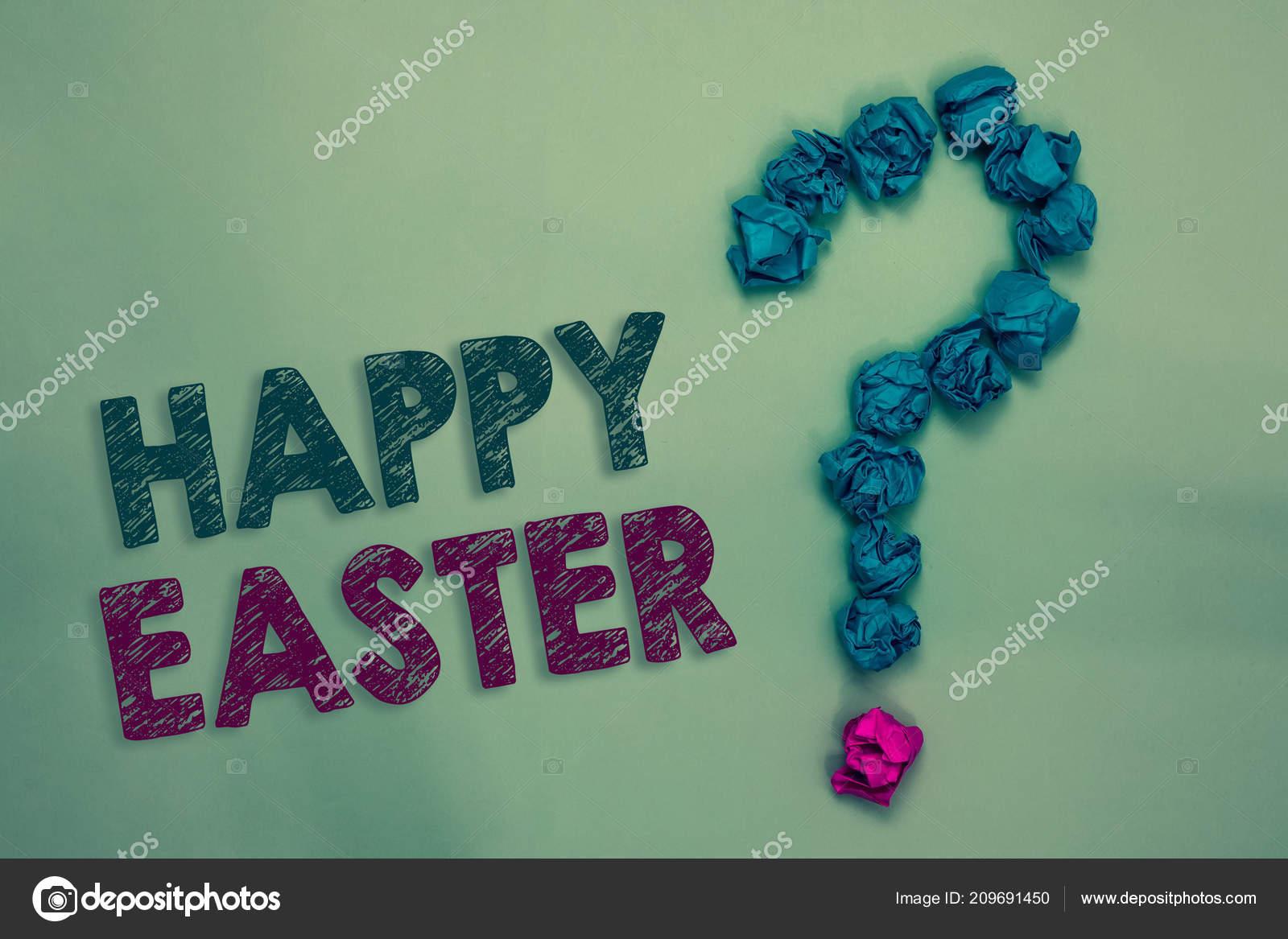 Muestra Texto Mostrando Felices Pascuas Fiesta Cristiana
