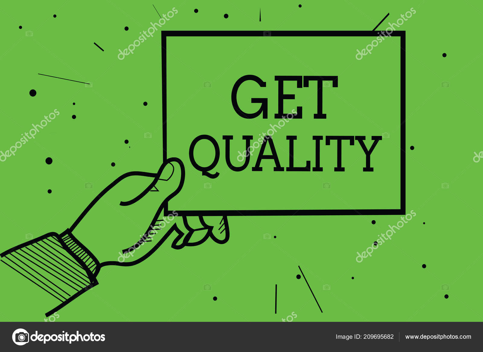 text sign showing get quality conceptual photo features