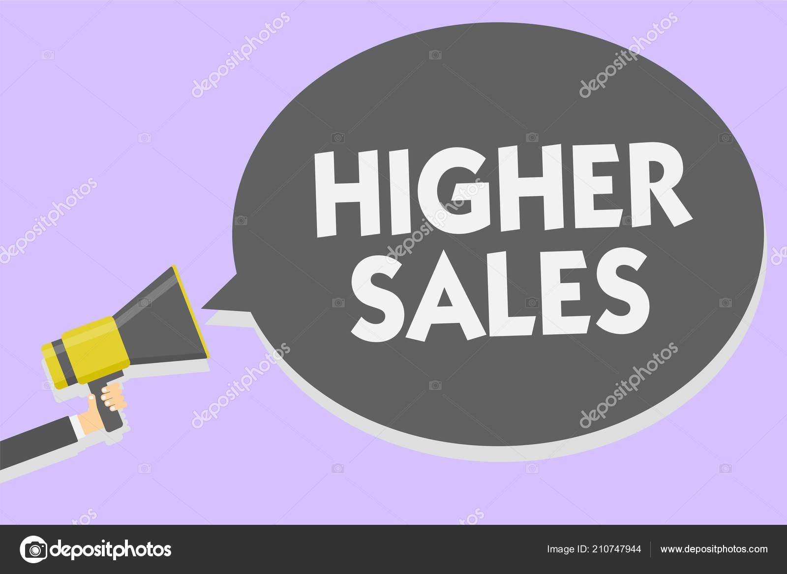 4a951e420 Konceptuální ručně psaného textu ukazuje vyšší tržby. Obchodní fotografie  představí průměr prodaných produktů a služeb firmy rozrostla muž, ...