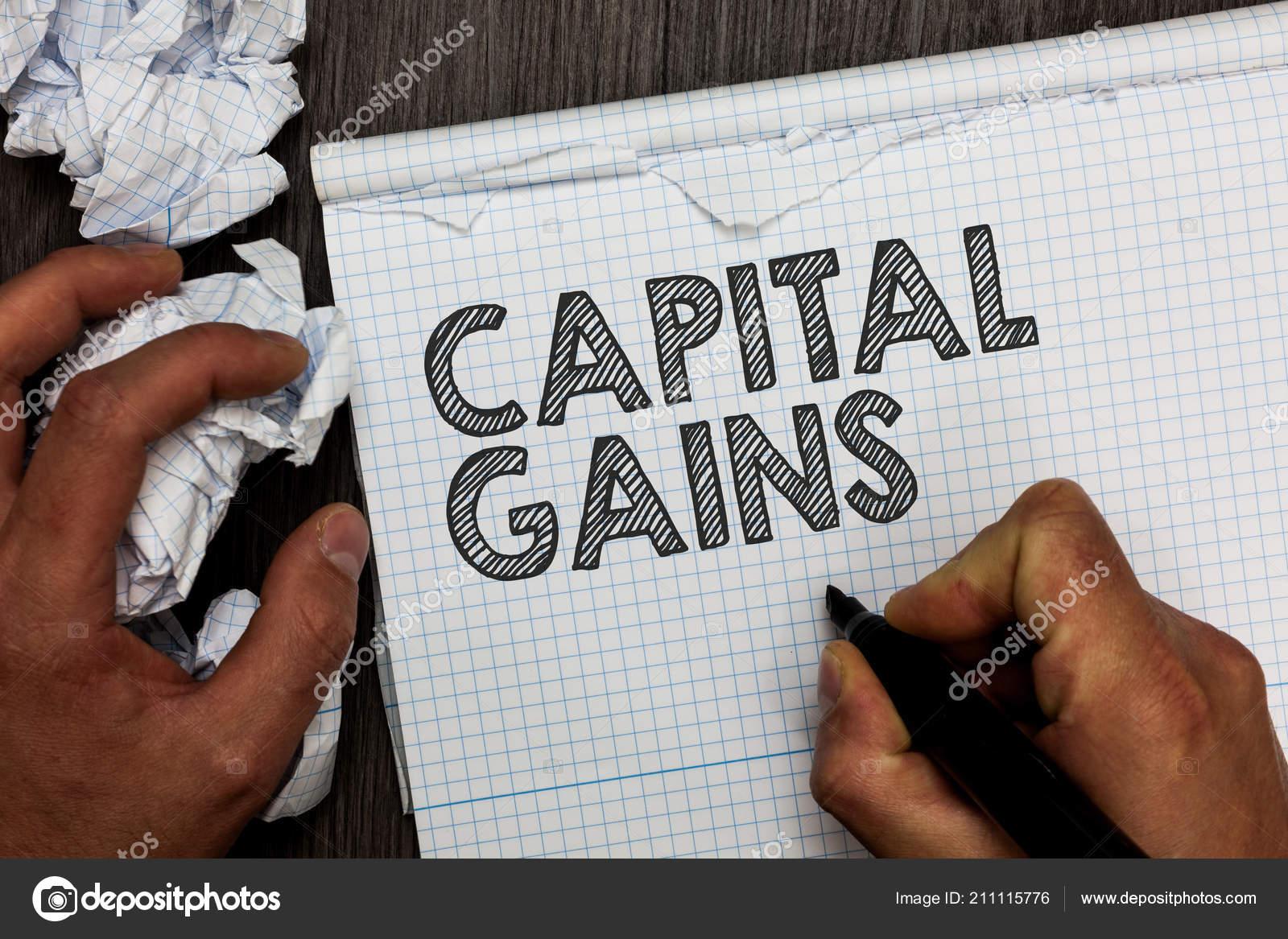 La Palabra Escritura Texto Ganancias De Capital Concepto De