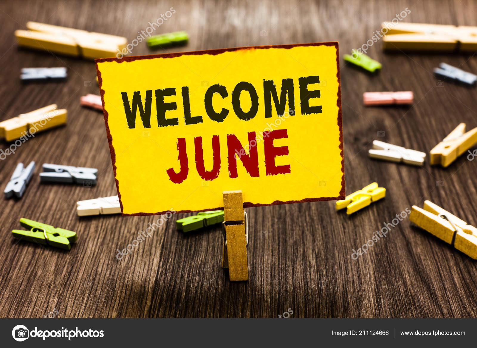Calendario Significato.Testo Di Scrittura A Mano Scrivendo Benvenuta Giugno