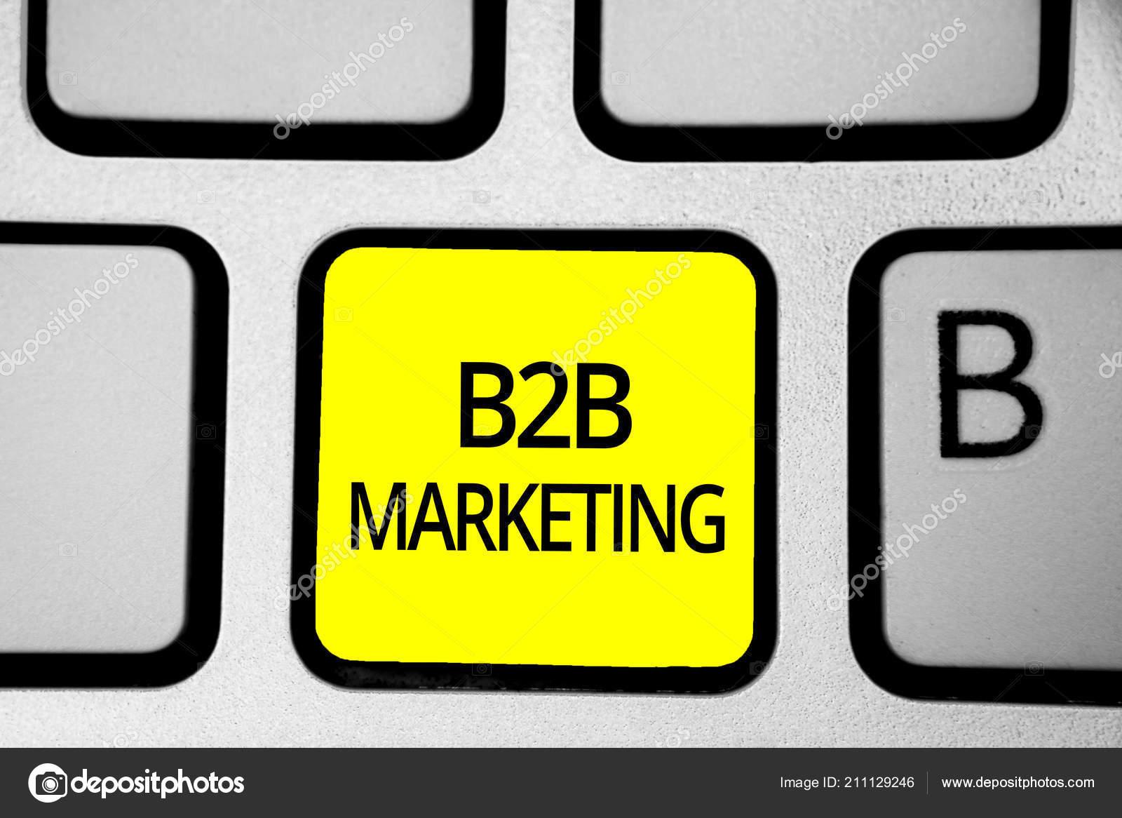 Handwriting text writing B2B Marketing  Concept meaning Partnership