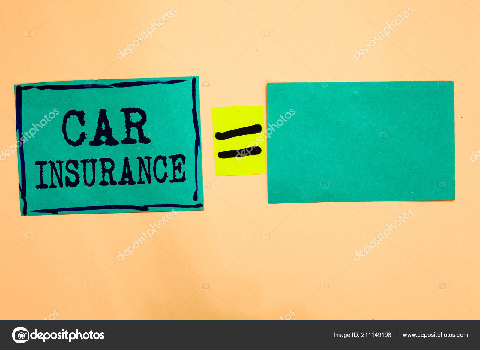 Handwriting Text Car Insurance Concept Meaning Accidents Coverage