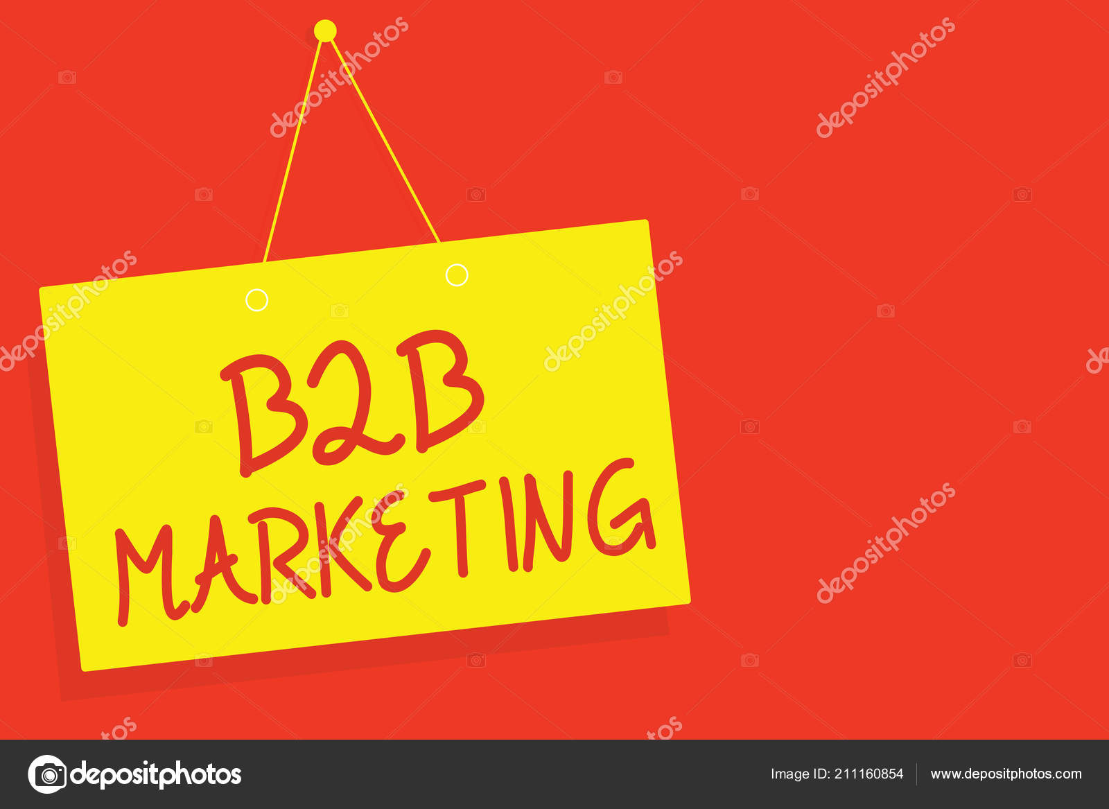 Handwriting text writing B2B Marketing  Concept meaning