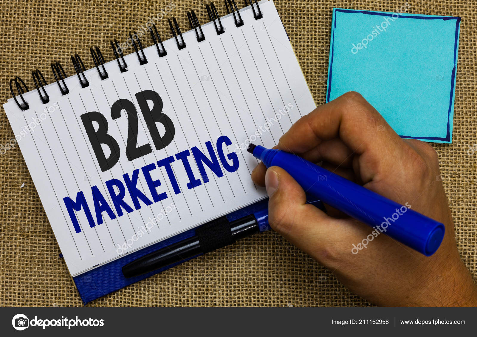 Word writing text B2B Marketing  Business concept for