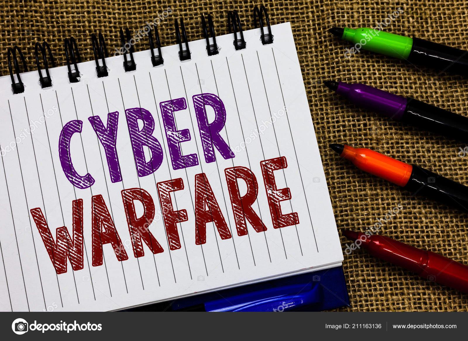 Muestra De Texto Que Muestra La Guerra Cibernética Foto