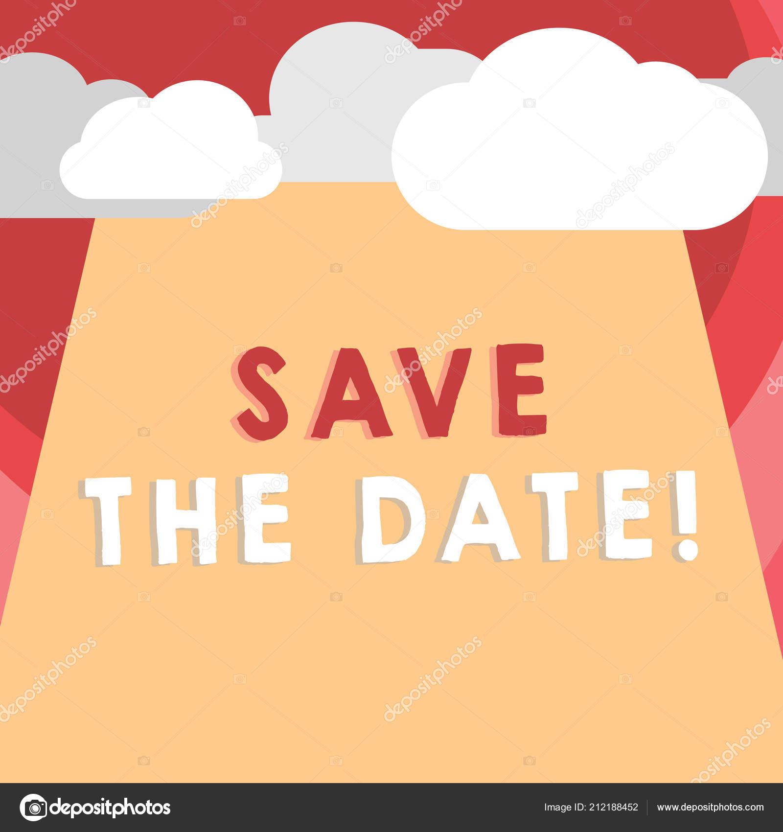 Marca Calendario.Texto De Escrita Escrever O Pre Convite Conceito Significa
