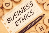 Word writing text Business Ethics. Business concept for Moral principles that guide the way a business behaves