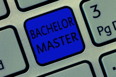 Writing note showing Bachelor Master. Business photo showcasing An advanced degree completed after bachelors degree