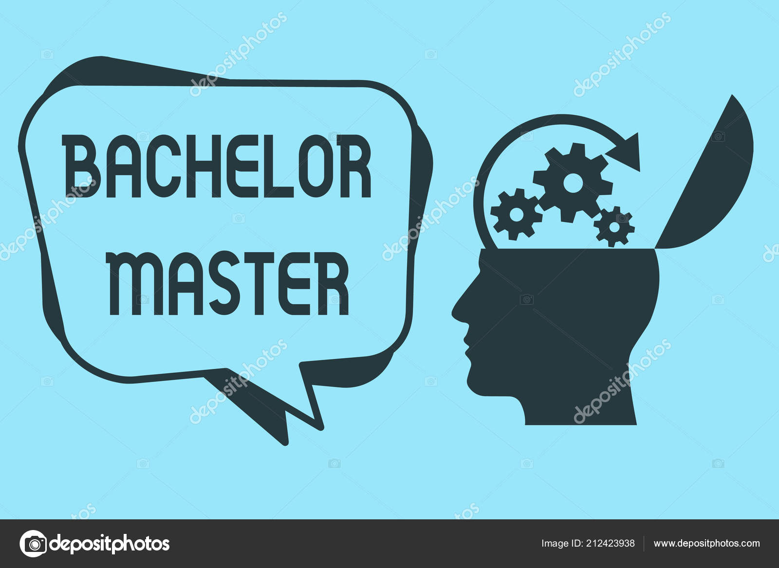 Word Writing Text Bachelor Master Business Concept For An Advanced
