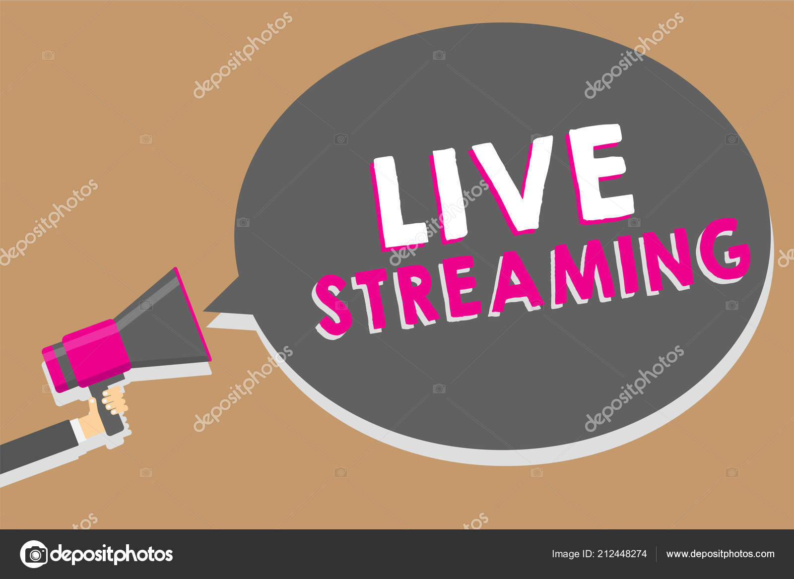 Word writing text Live Streaming  Business concept for