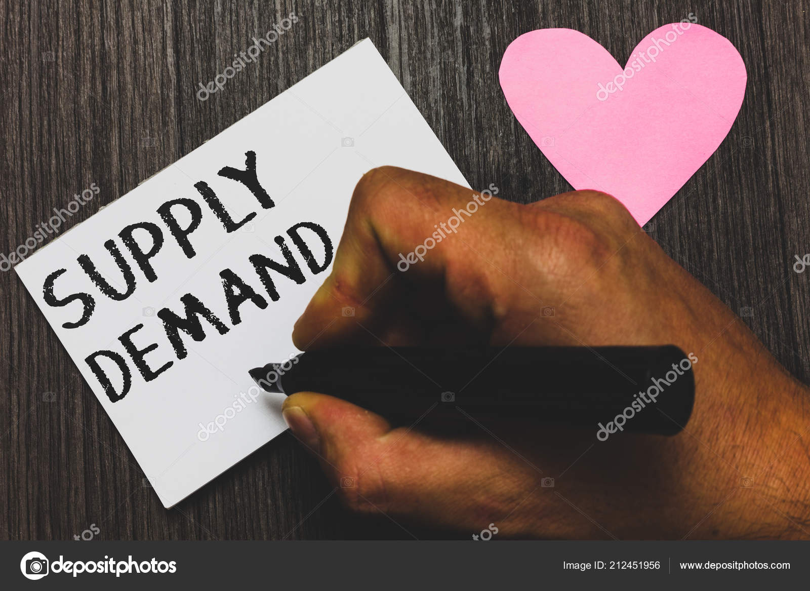 Handwriting text writing Supply Demand  Concept meaning