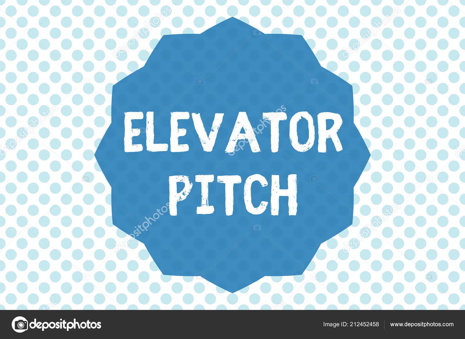 Mostrando O Elevator Pitch é O Bilhete Foto De Negócios