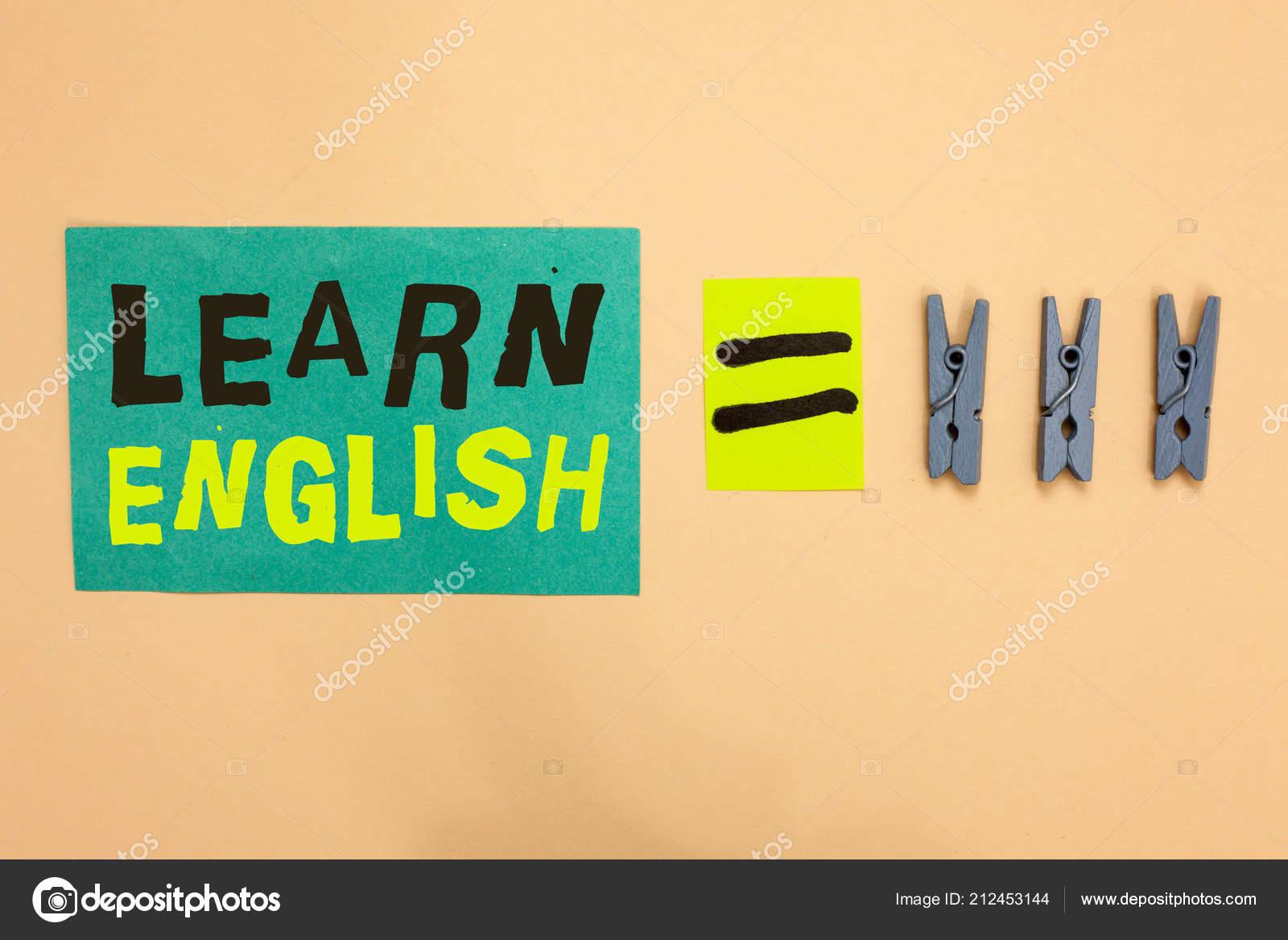 Texto de escritura aprende inglés  Concepto significado