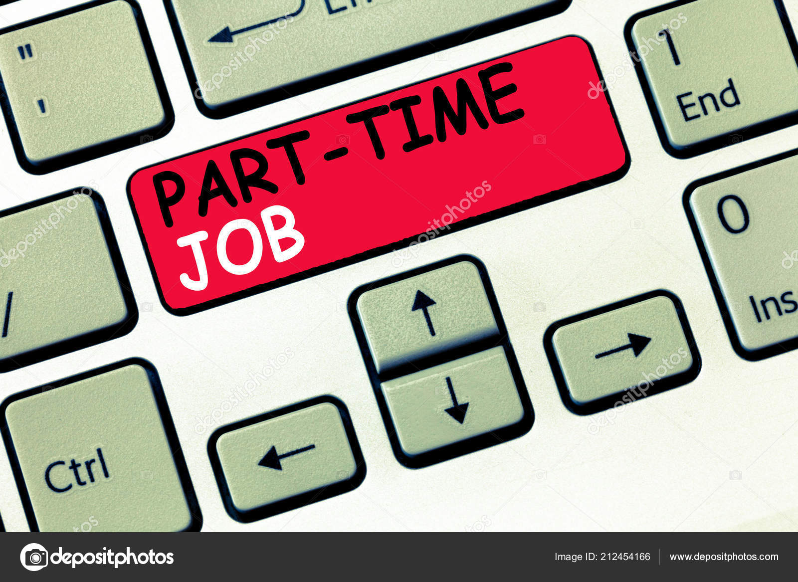 Word writing text Part Time Job  Business concept for
