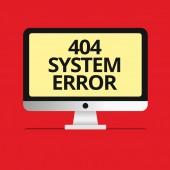 Znak textu zobrazující 404 chyba systému. Konceptuální fotografie zpráva se zobrazí, když webové stránky je dole a nelze dosáhnout
