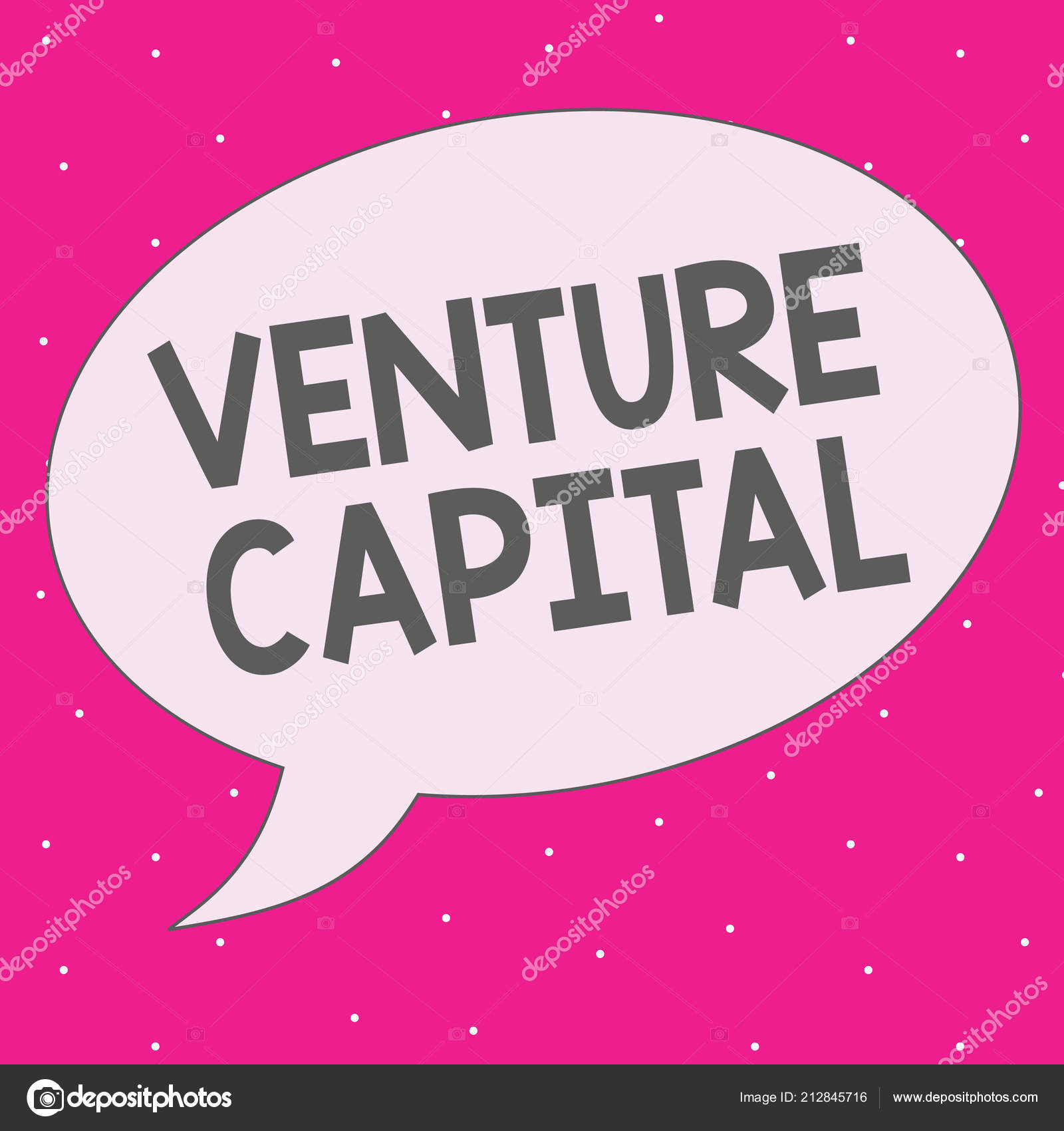 Handwriting text writing Venture Capital  Concept meaning