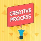 Fotografia Testo della scrittura processo creativo. Atto di significato di concetto di fare nuove connessioni tra vecchie idee Unique