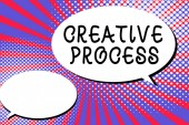Fotografia Testo di scrittura della parola processo creativo. Concetto di affari per atto di fare nuove connessioni tra vecchie idee Unique