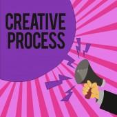 Fotografia Testo di scrittura scrittura processo creativo. Atto di significato di concetto di fare nuove connessioni tra vecchie idee Unique