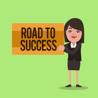 Handwriting text writing Road To Success. Concept meaning studying really hard Improve yourself to reach dreams wishes