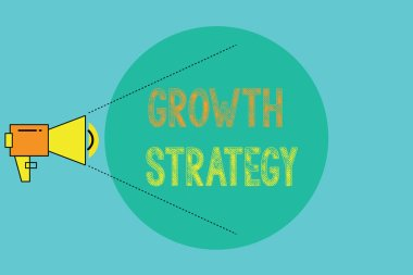 Conceptual hand writing showing Growth Strategy. Business photo showcasing Strategy aimed at winning larger market share in shortterm