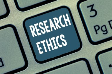 Conceptual hand writing showing Research Ethics. Business photo showcasing interested in the analysis of ethical issues that raised .