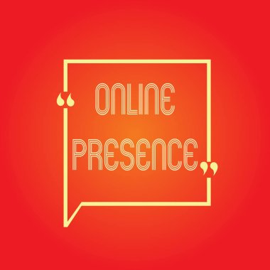 Conceptual hand writing showing Online Presence. Business photo text existence of someone that can be found via an online search