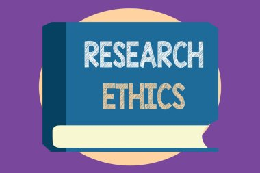 Conceptual hand writing showing Research Ethics. Business photo showcasing interested in the analysis of ethical issues that raised