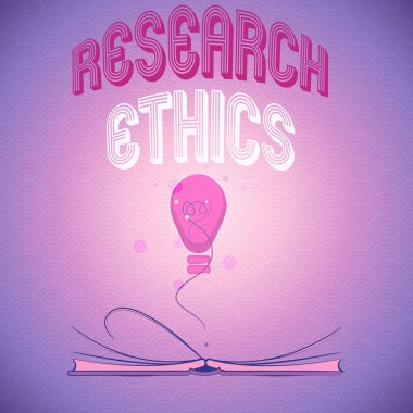Handwriting text writing Research Ethics. Concept meaning interested in the analysis of ethical issues that raised