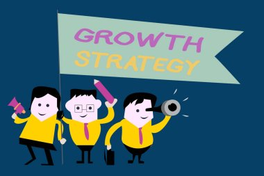 Text sign showing Growth Strategy. Conceptual photo Strategy aimed at winning larger market share in shortterm