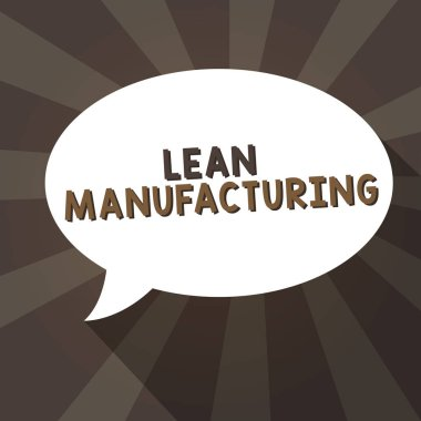 Handwriting text writing Lean Manufacturing. Concept meaning Waste Minimization without sacrificing productivity