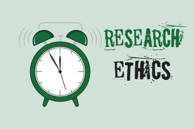 Word writing text Research Ethics. Business concept for interested in the analysis of ethical issues that raised