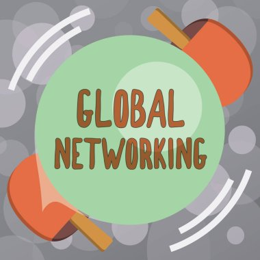 Text sign showing Global Networking. Conceptual photo Communication network which spans the entire Earth WAN