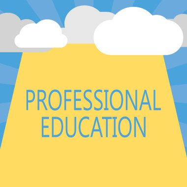 Writing note showing Professional Education. Business photo showcasing Continuing Education Units Specialized Training