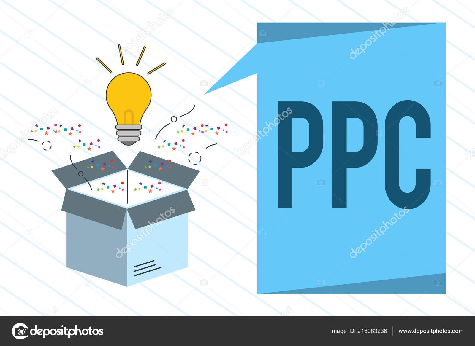Mot Ecrit Texte Ppc Business Concept Pour Les Annonceurs Paient Une