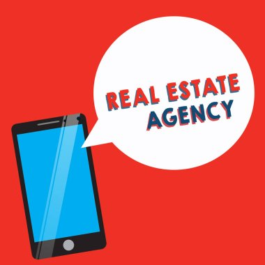 Conceptual hand writing showing Real Estate Agency. Business photo showcasing Business Entity Arrange Sell Rent Lease Manage Properties