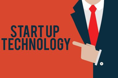 Word writing text Start Up Technology. Business concept for Young Technical Company initially Funded or Financed