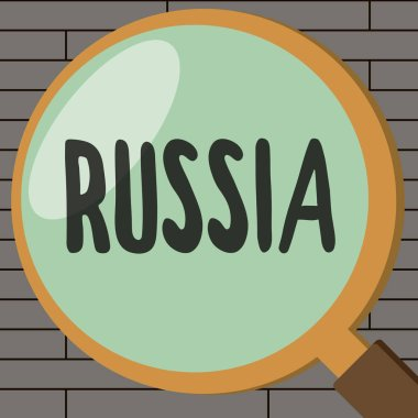 Handwriting text writing Russia. Concept meaning worlds largest nation borders European Asian countries and oceans