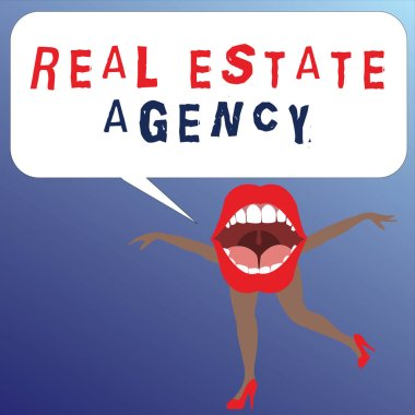 Writing note showing Real Estate Agency. Business photo showcasing Business Entity Arrange Sell Rent Lease Manage Properties