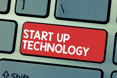 Handwriting text writing Start Up Technology. Concept meaning Young Technical Company initially Funded or Financed